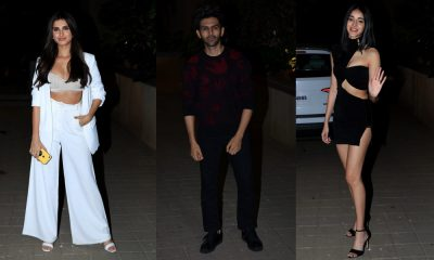Ananya Panday, Kartik Aaryan, Tara Sutaria at Punit Malhotra's Valentine's Day party