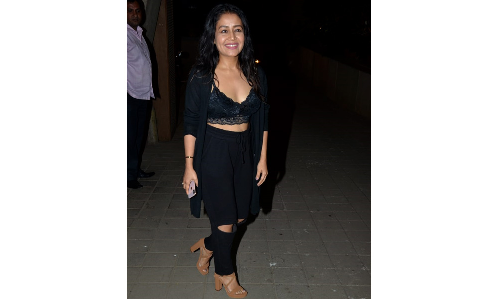 Neha Kakkar at Punit Malhotra's Valentine's Day party
