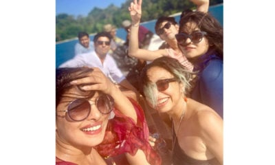 Priyanka Chopra takes a beachy selfie of the sets of The Sky Is Pink