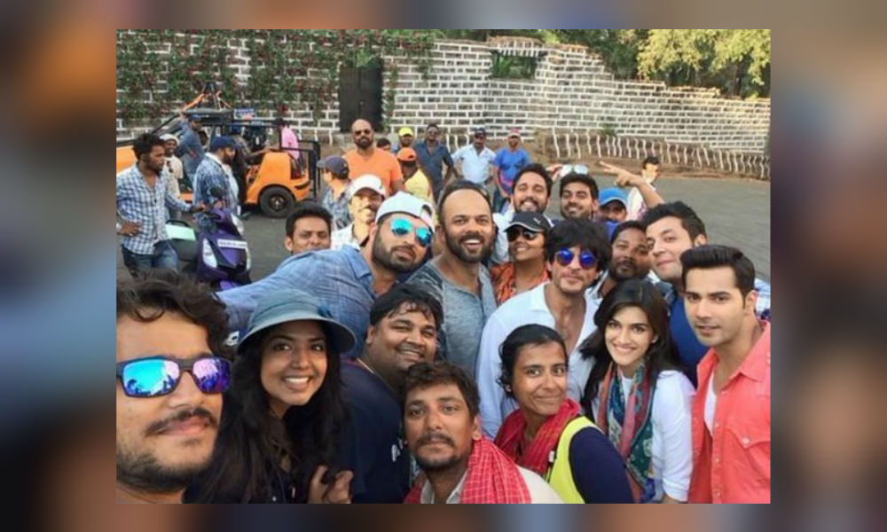 Rohit Shetty on the sets of Dilwale
