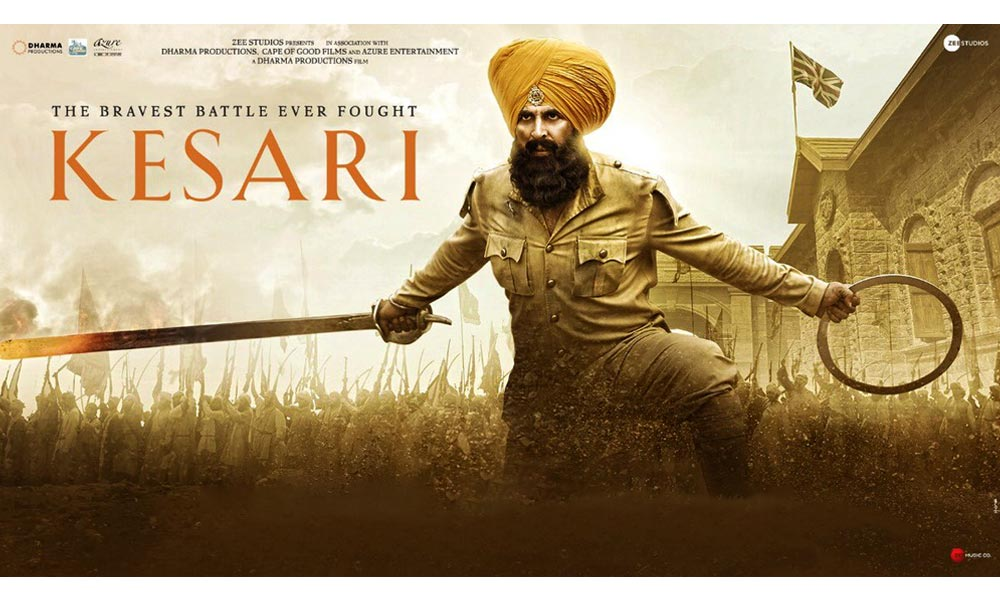 kesari poster akshay kumar with troops