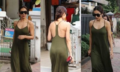 Malaika Arora in olive green maxi dress